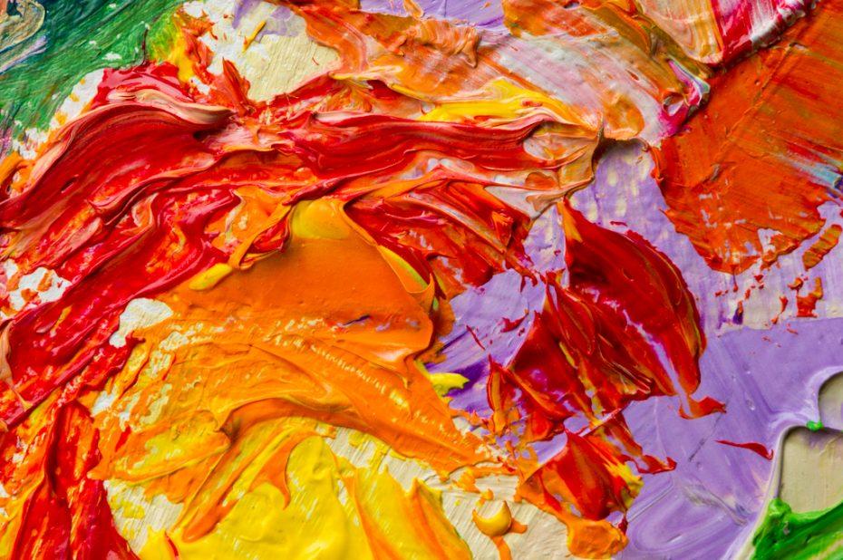 Bright colors mixing